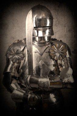 Knight wearing armor