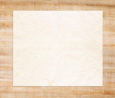 Blank frame on paper background