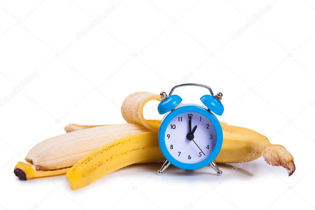 план картинки банана и часовая который время баллотировался