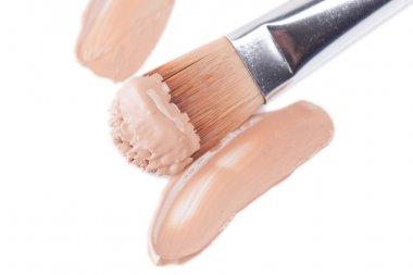 Close-up of makeup concealer brush