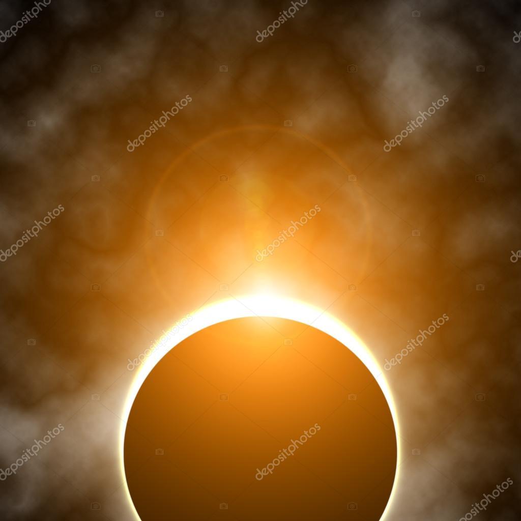 Colorful solar eclipse