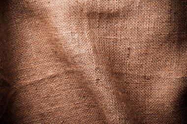 Brown natural linen texture with folds stock vector