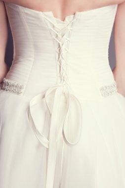 Close-up of brides back