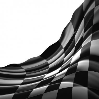 Black and white racing flag