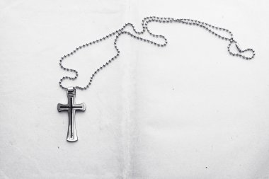 Silver Christian cross