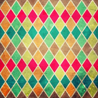 geometric pattern with colorful rombs