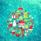 Photo christmas design elements