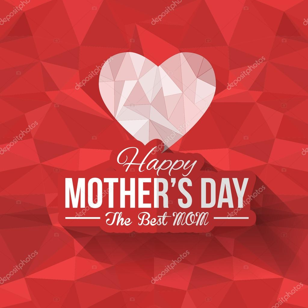 Geometric heart symbol and happy mothers day low poly background geometric heart symbol and happy mothers day low poly background announcement and celebration message poster biocorpaavc