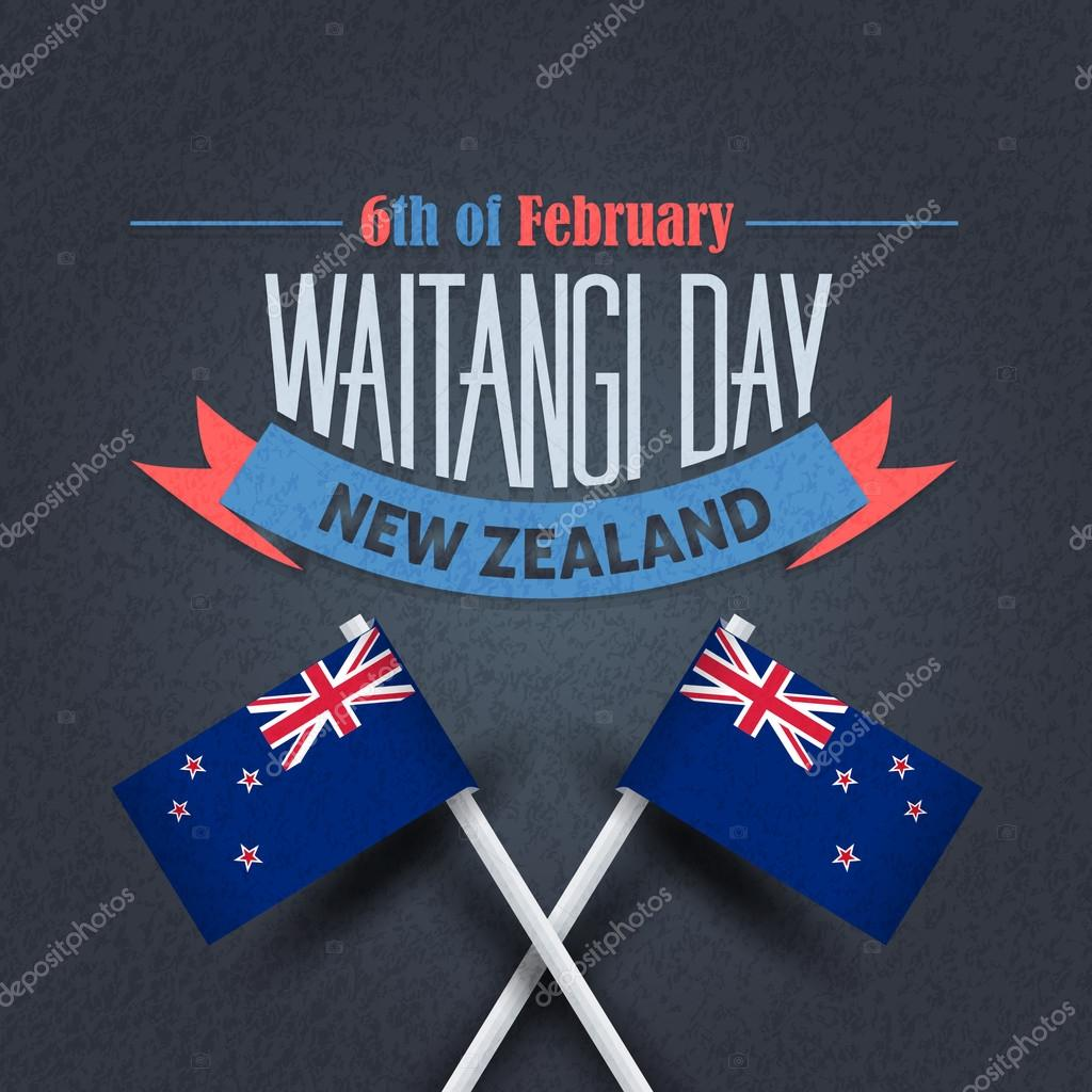 Waitangi Day New Zealand National Greeting Card Vector Design