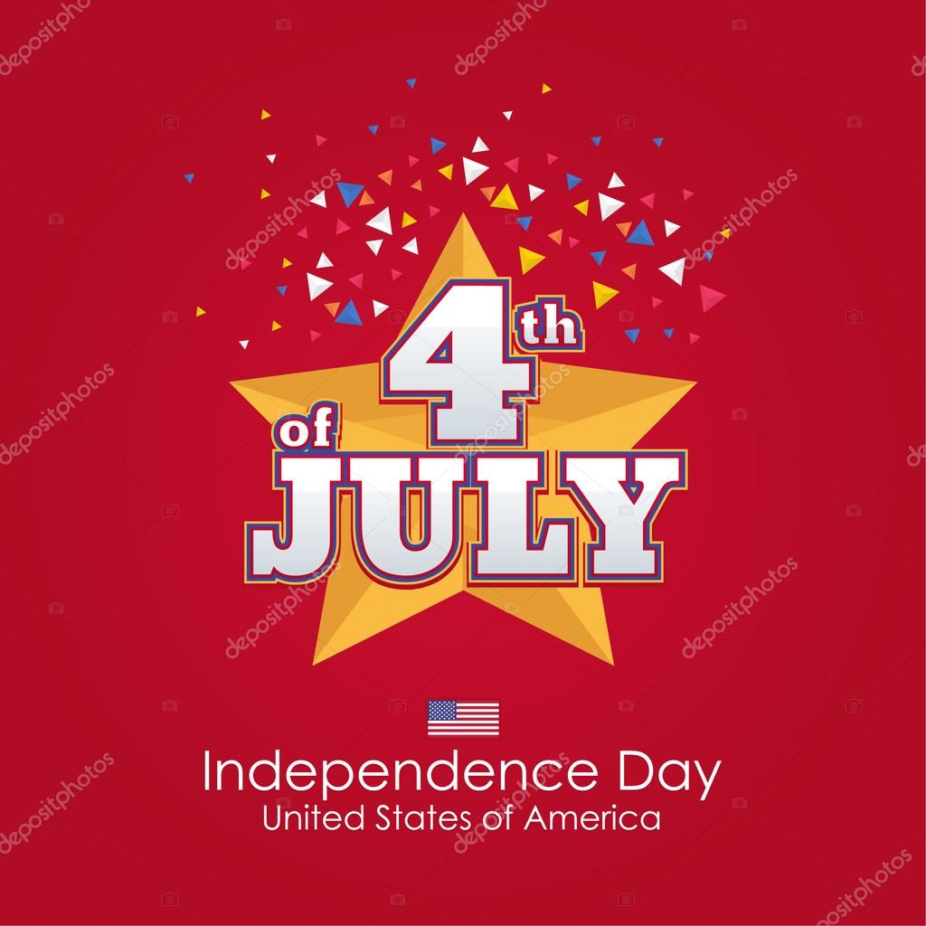 United States Of America Stylish Text 4th Of July Happy Independence