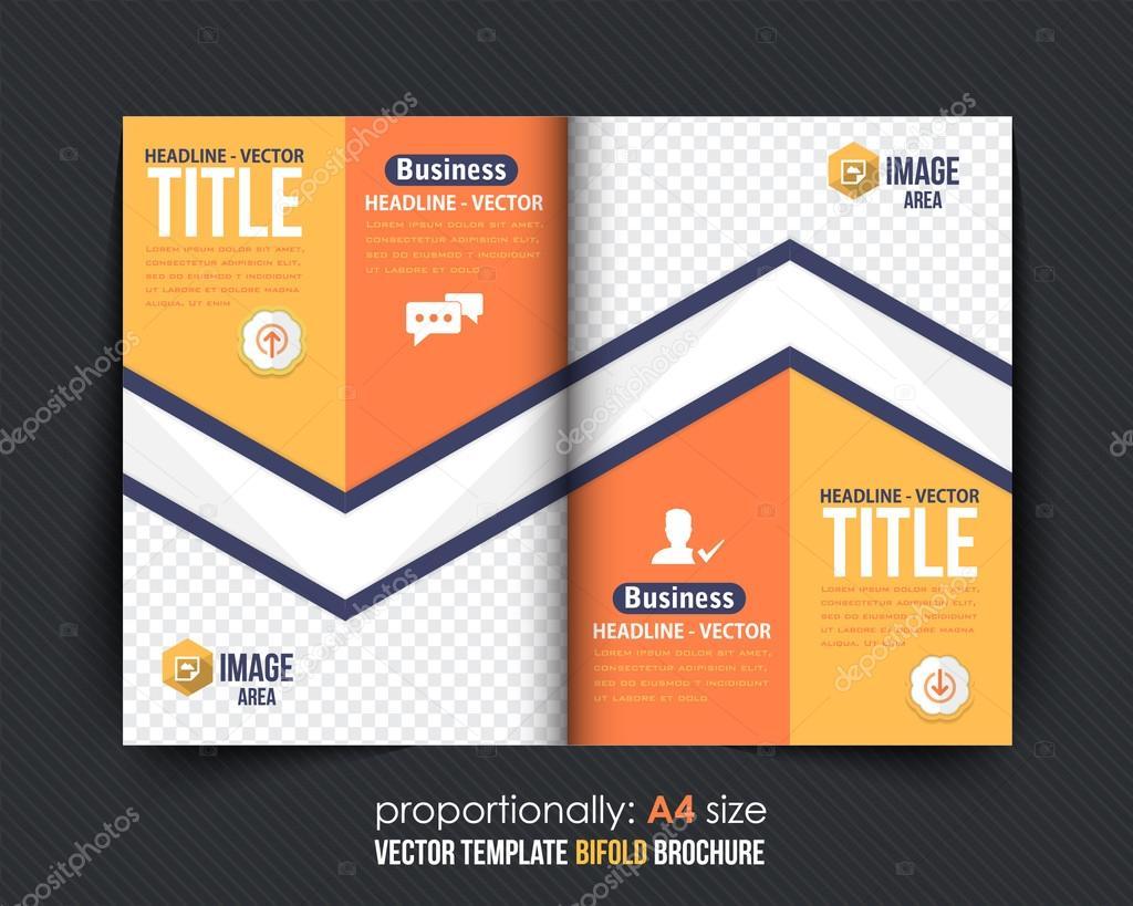 BI-Fold Broschüre Design. Firmen Broschüre Cover Vorlage ...