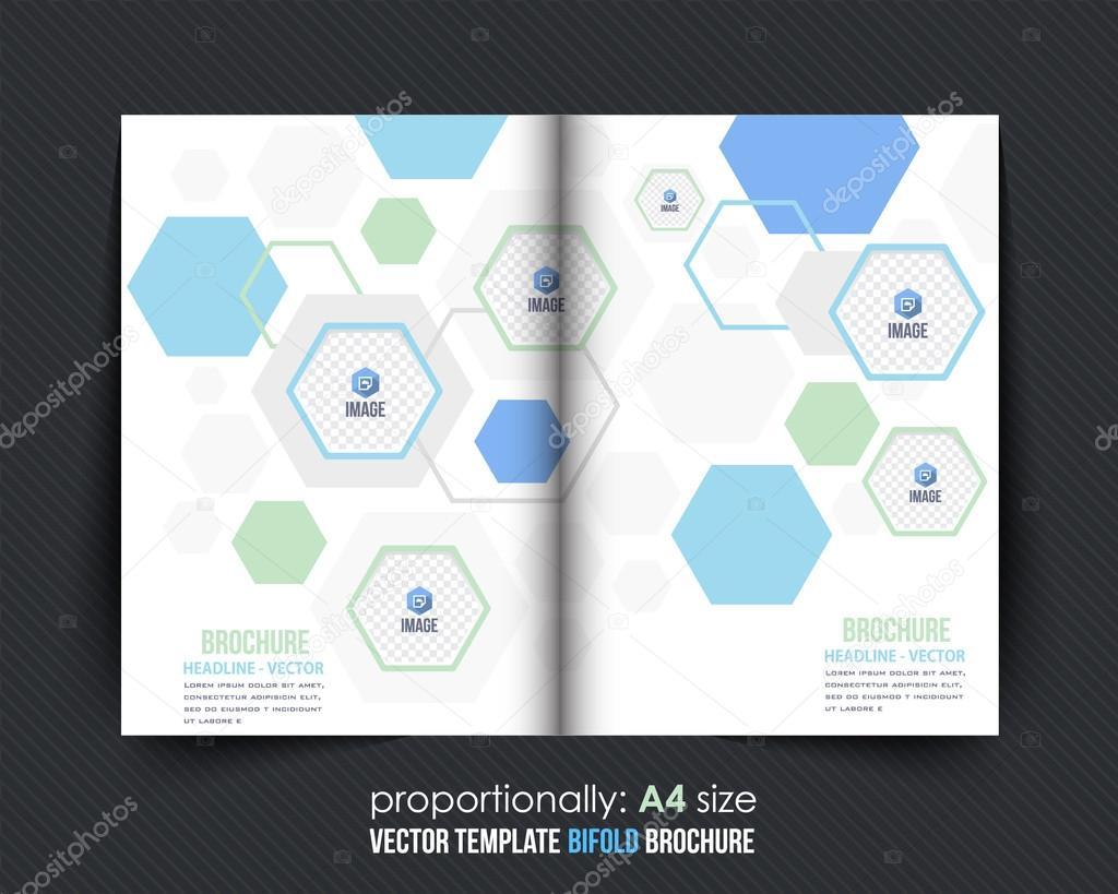 Minimalisticminimalistic abstrakte Elemente Bi-Fold Broschüre Design ...