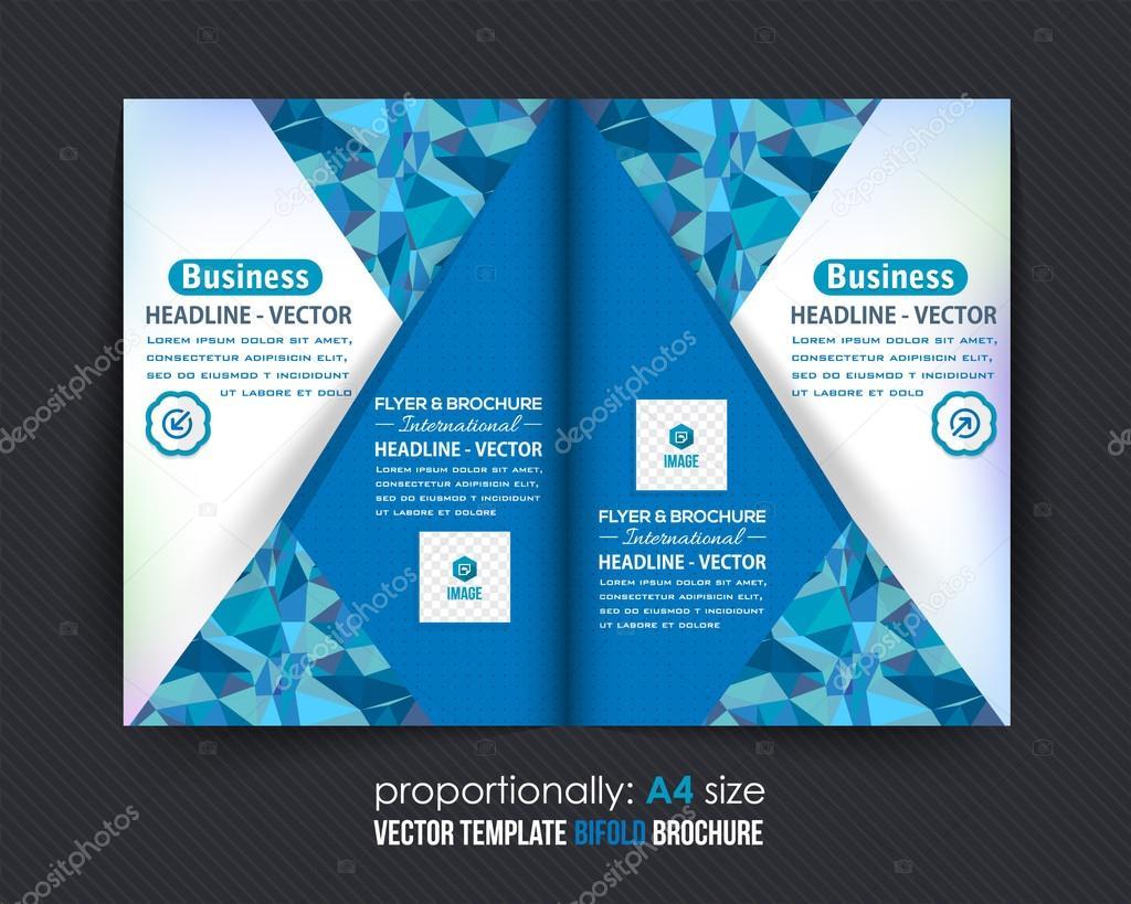 Blue Colors Business Bi-Fold Brochure Design  Corporate