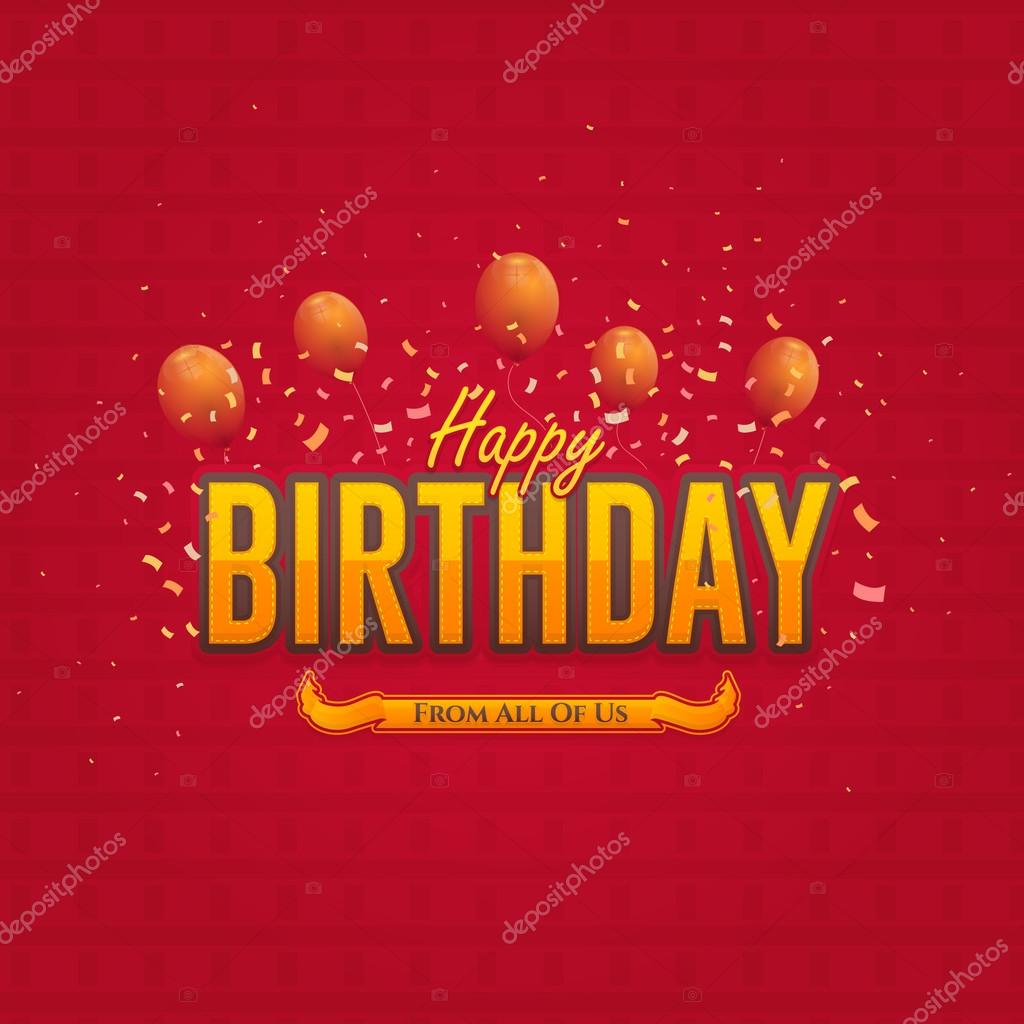 Colorful Stylish Text Happy Birthday Message, Greeting Card