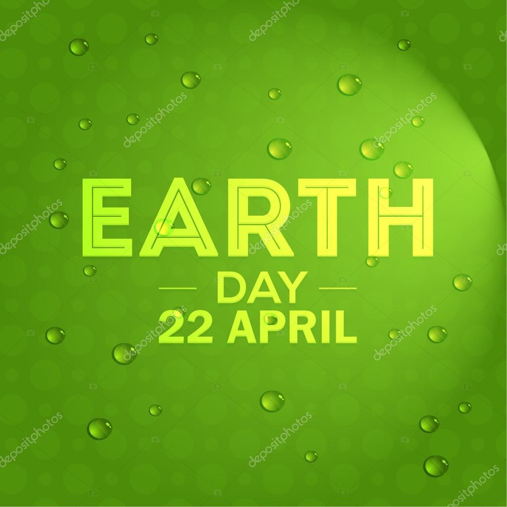 Tag der Erde, April 22 Konzept Label, grüne Farben Hintergrund ...