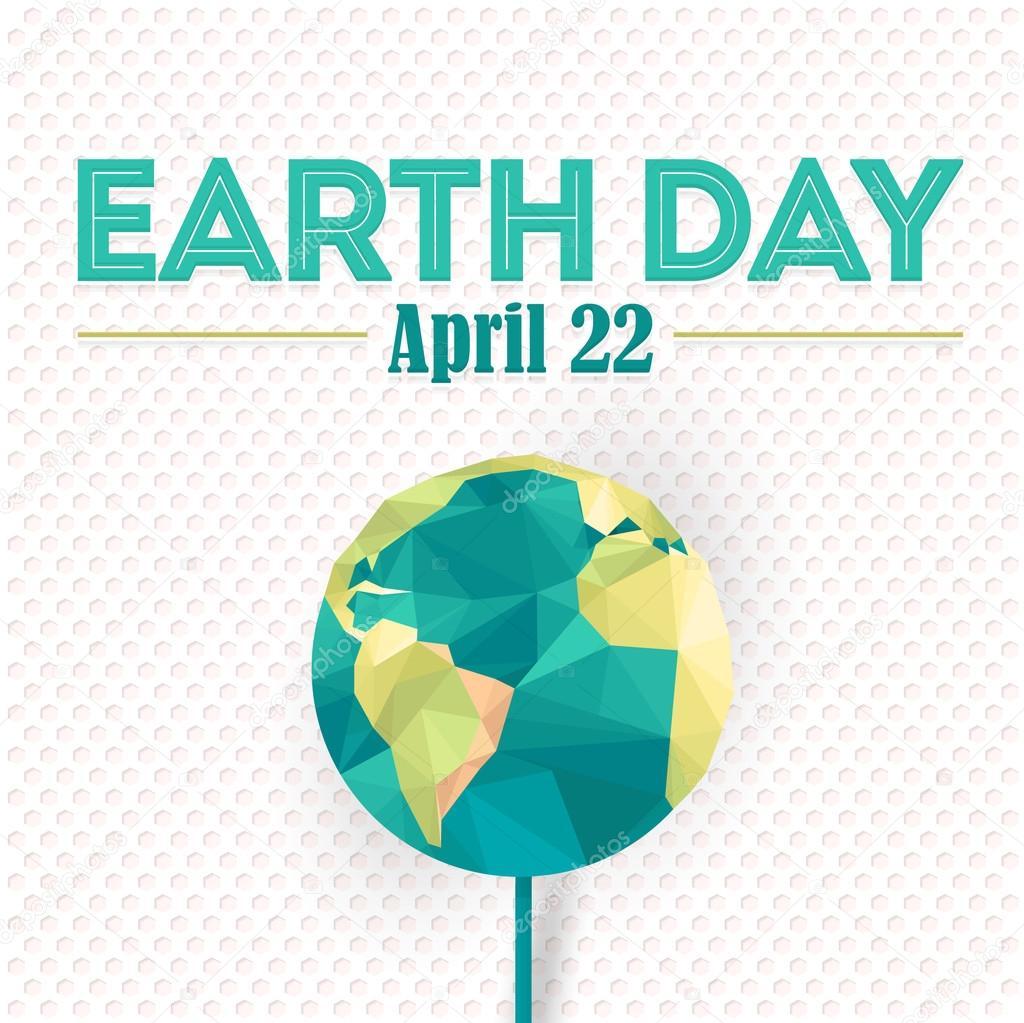 Polygonal earth symbol flat long shadow style earth day concept polygonal earth symbol flat long shadow style earth day concept background stock vector buycottarizona