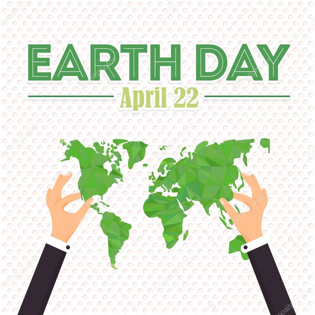 April 22 earth day card design hands hold low poly world map hands hold low poly world map illustration vector de vectorweb gumiabroncs