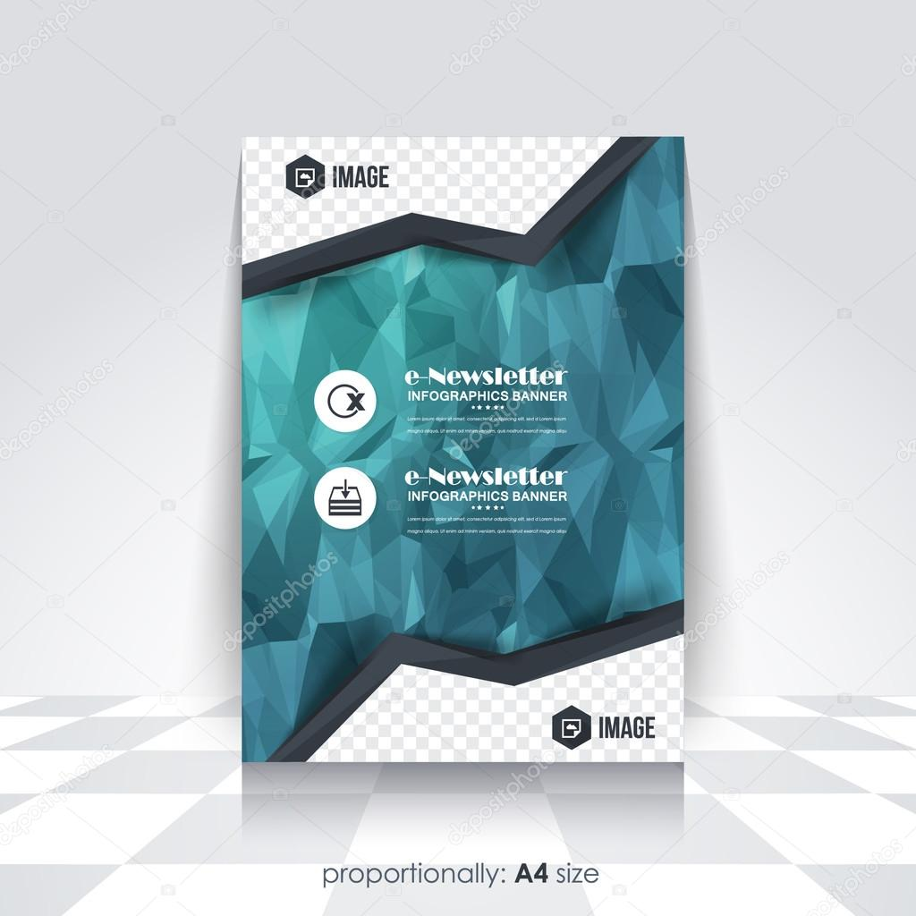low poly style a4 flyer cover design corporate leaflet brochure