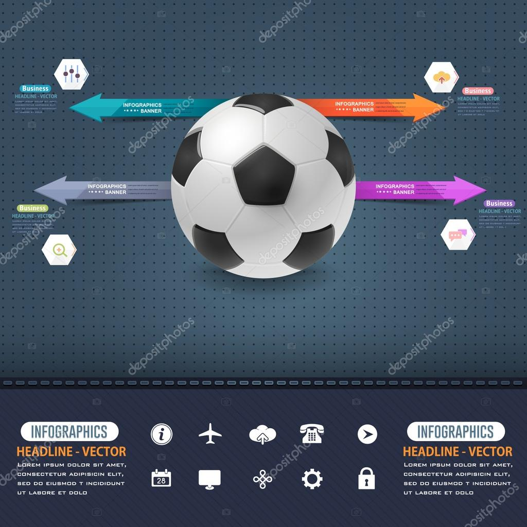 Football Soccer Ball Infographics Template Image Vectorielle