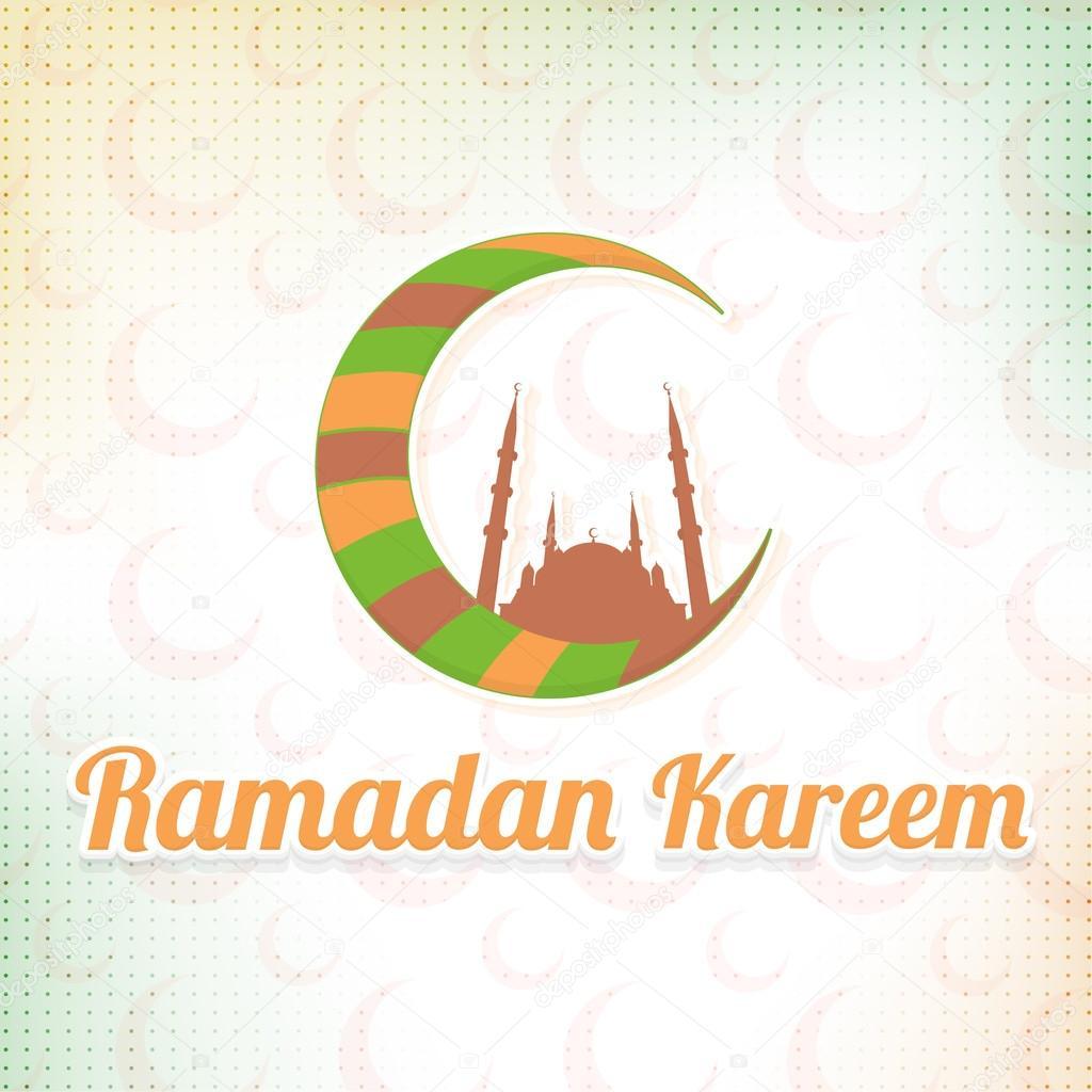 Multicolored crescent moon symbol on blurred background ramadan multicolored crescent moon symbol on blurred background ramadan greeting card design stock vector biocorpaavc Gallery
