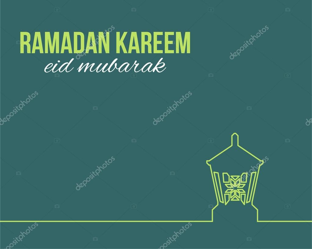 Outlines style lantern illustration ramadan kareem greeting card outlines style lantern illustration ramadan kareem greeting card design arabic eid mubarak be blessed at english vector by vectorweb m4hsunfo