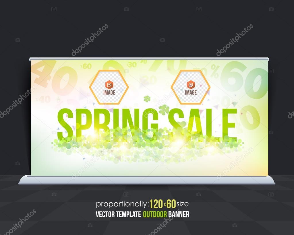 spring sale outdoor banner design advertising template ストック