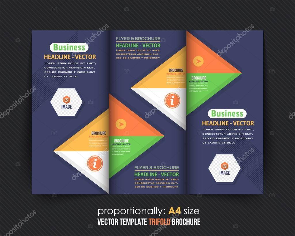 Multipurpose Geometric Background Elegant Tri Fold Brochure Design