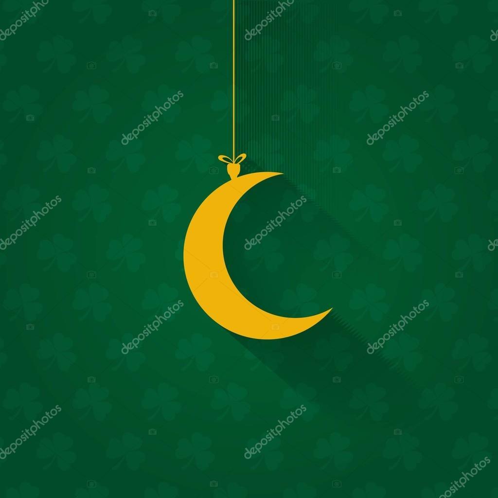 Islamic style decorative crescent moon symbol hanging flat islamic style decorative crescent moon symbol hanging flat background stock vector biocorpaavc Gallery