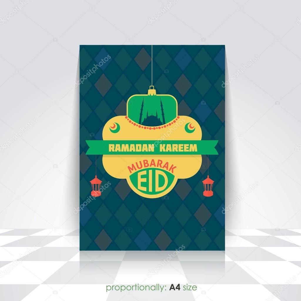 Ramadan Kareem A4 Stijl Flyer Brochure Islamitische Heilige
