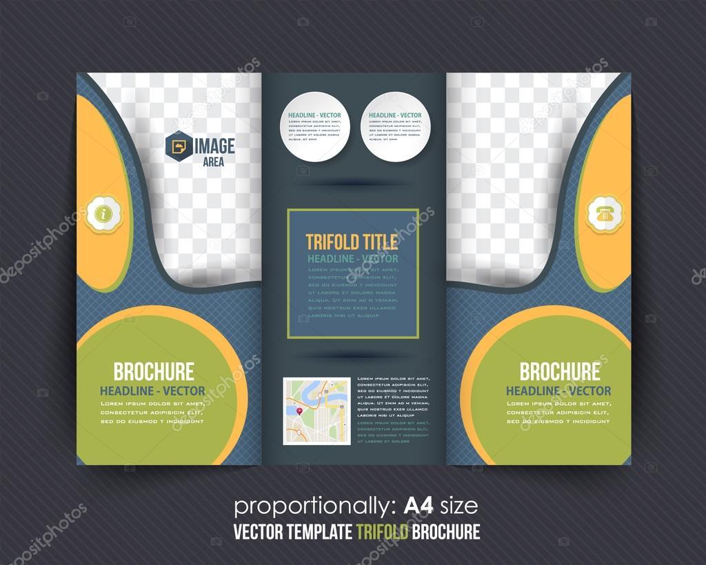 Multiusos Tri-fold Brochure diseño, catálogo Vector plantilla ...