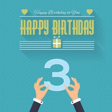 Happy Birthday clip art vector
