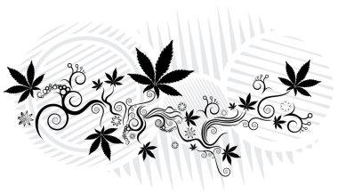 Marijuana cannabis leaf texture background vector illustration