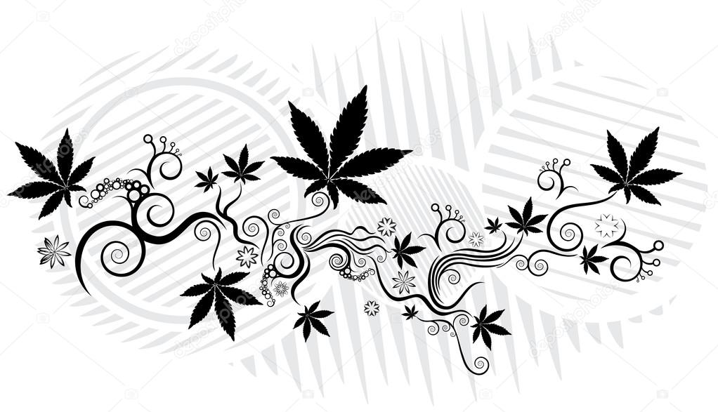 Marijuana cannabis leaf texture background vector illustration