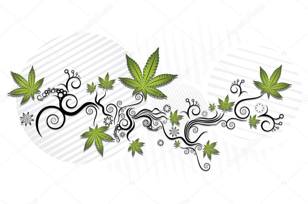マリファナ大麻葉テクスチャ背景デザイン ベクトル イラスト ストック