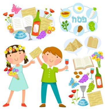 Passover cartoons set