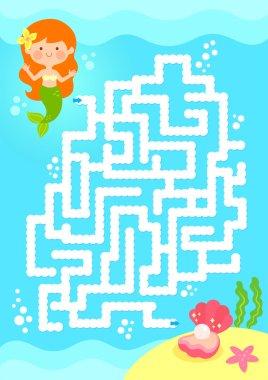 mermaid maze game