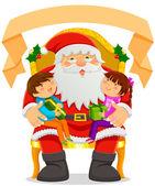 Weihnachtsmann und Kinder