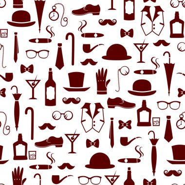 Vintage men's items pattern