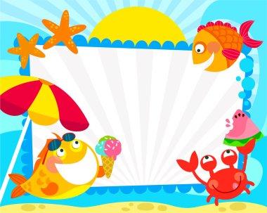 Summer fish frame