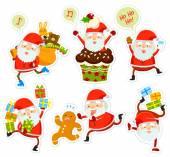 Fotografia cartoni animati divertenti di Babbo Natale