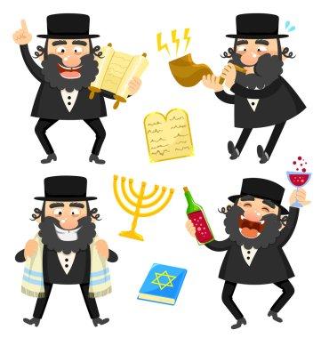 cartoon rabbi
