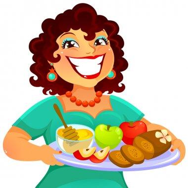 woman celebrating Rosh Hashanah