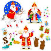 Sinterklaas karikatury sada