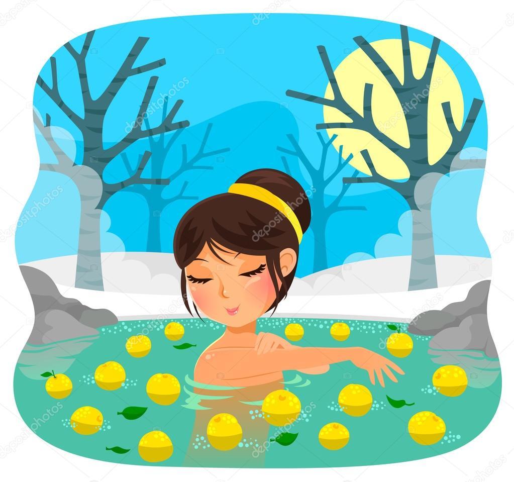 yuzu fruit bath