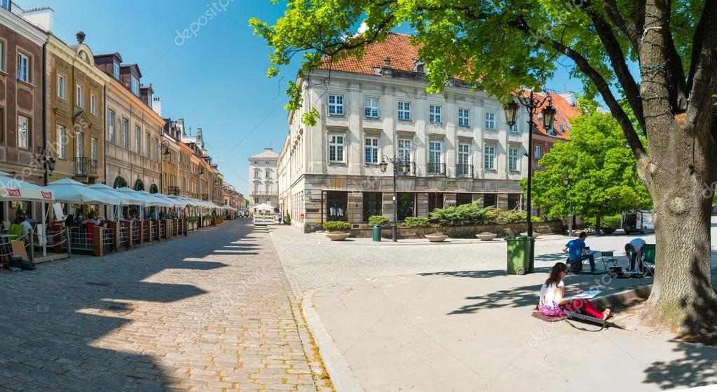 Square in Warsaw, Poland