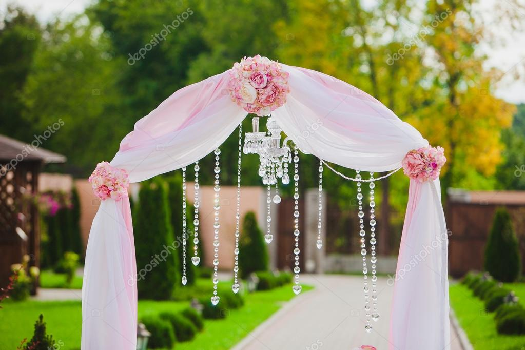 Arch for the wedding ceremony. Floristic composition