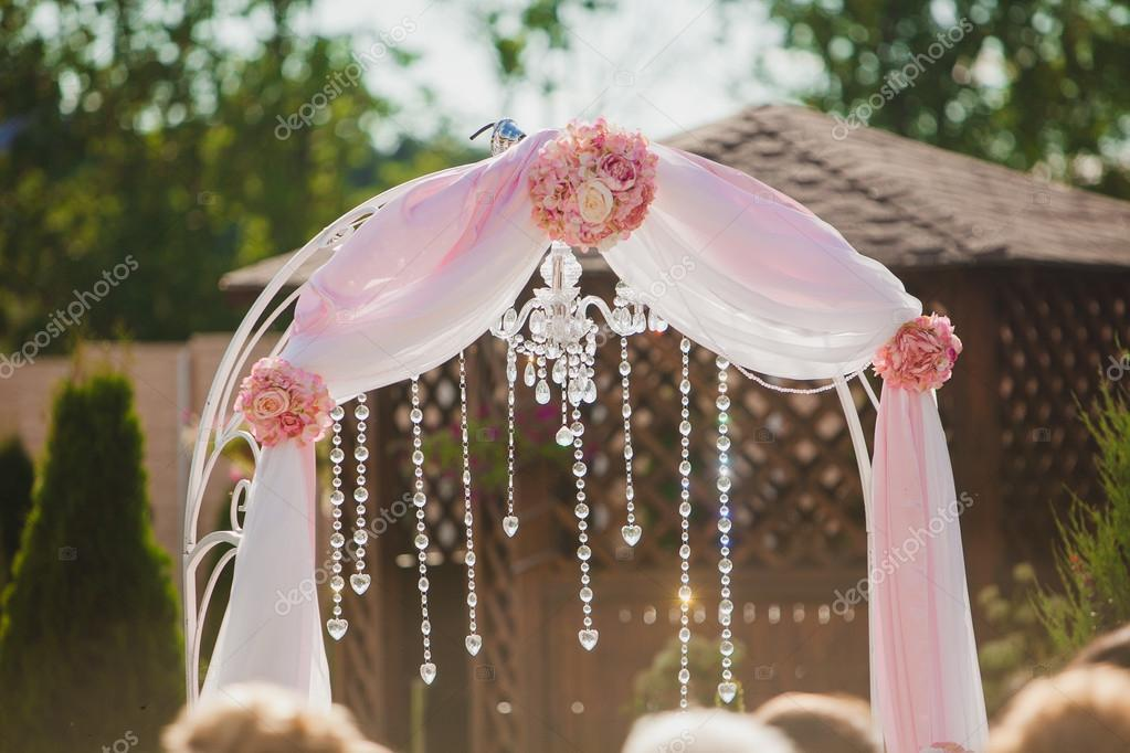 Arch for the wedding ceremony. Floristic composition. Nobody