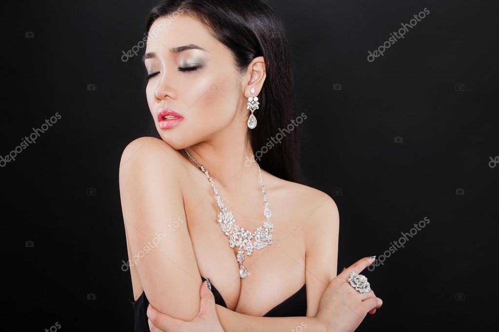 posing Young asian wife