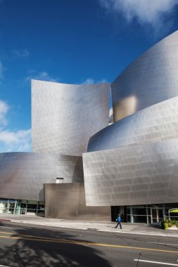 LOS ANGELES - JULY 26, 2015: Exterior of the Walt Disney Concert Hall in Los Angeles, designed by Frank Gehry.