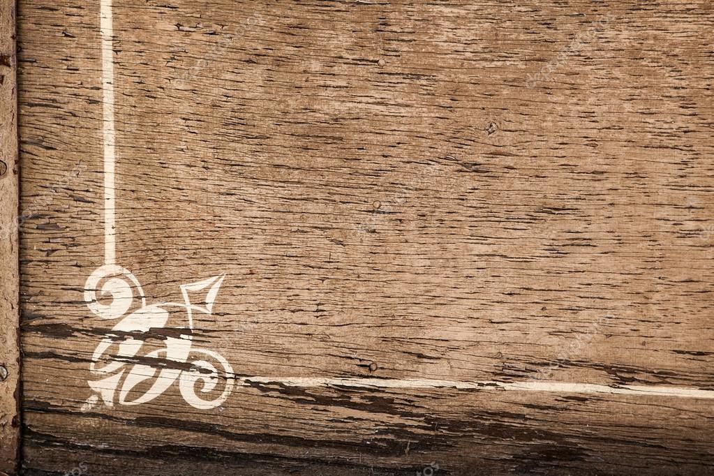 Fondo de madera con adorno de marco blanco y rayas — Foto de stock ...